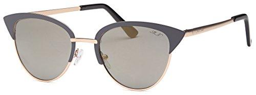 CatEye Sunglasses by Mia Nova   Women Designer Tip Pointed Semi-Rimless CatEye Metal - Nova Sunglasses