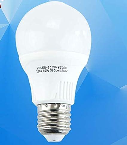 Bombilla led bombilla E27 tornillo 7w9w11w13w lámparas de ahorro de energía en forma de pera iluminación para el hogar blanco luz amarilla, bombilla 13w A60 ...