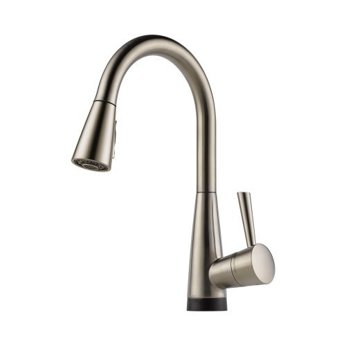 Brizo 64070LF-SS Venuto Kitchen Faucet Single Handle with Pull-Down Spray and Smarttouch Technology, Stainless Steel