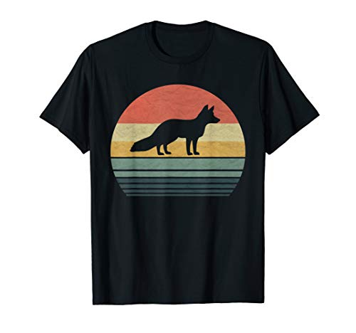 (Retro Vintage Fox T-Shirt Gift For Family Love Animals)