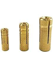 JIAN M6/M8/M10 Brass Drop in Anchor Fit for Concrete Structures Exquisite (Specification : M8 15PCS)