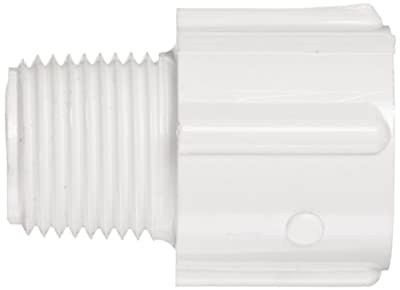 Spears PVC Pipe Fitting, Adapter, Schedule 40, White, NPT Male x Socket