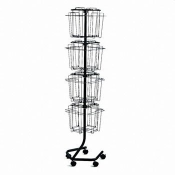 Safco- Wire Rotary Display Racks Rack ,Rtry Literature ,Ccl (Pack Of 2