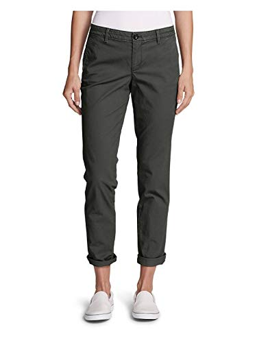 Eddie Bauer Women's Stretch Legend Wash Pants - Boyfriend, Carbon Regular -