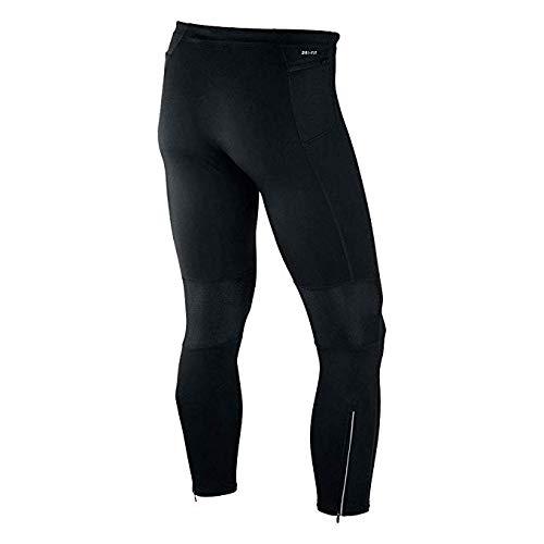 Nike Power Tech Dri Fit Running Tights Reflect Zip Pockets Small Black