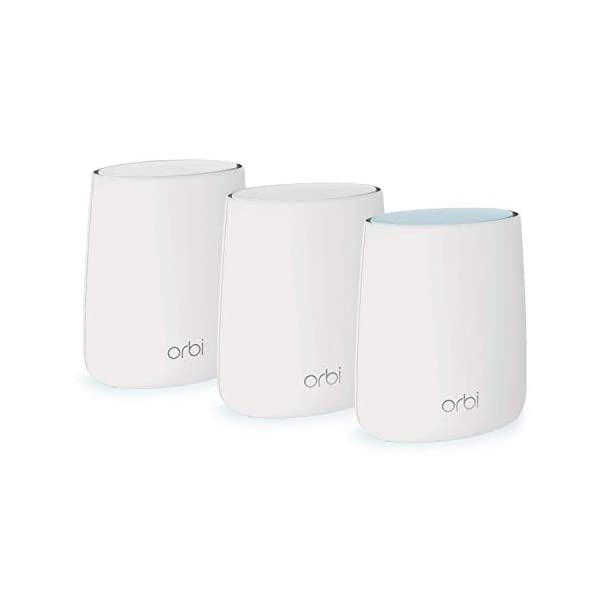NETGEAR Orbi Tri-band Whole Home Mesh WiFi System with 2.2Gbps speed (RBK23) – Router & Extender replacement covers up…
