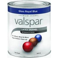 - Valspar 65031 Premium Interior/Exterior Latex Enamel, 1-Quart, Gloss Royal Blue
