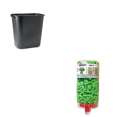 Soft Wastebasket - KITMLX6845RCP295600BK - Value Kit - Moldex-metric, Inc. Pura-Fit PlugStation Earplug Dispenser (MLX6845) and Rubbermaid-Black Soft Molded Plastic Wastebasket, 28 1/8 Quart (RCP295600BK)