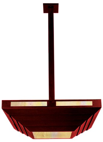Arroyo Craftsman CAIH-14-RC-GW Cascade Collection 2-light Semi-Flush, Raw Copper Finish with Gold White Iridescent Glass