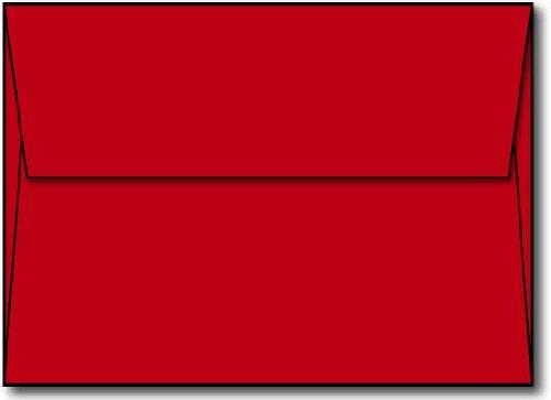 - Red A7 Envelopes, 5 1/4 x 7 1/4-100 Envelopes - Desktop Publishing SuppliesTM Brand Envelopes