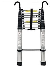 Telescoping Ladder 2.2M Tall Telescoping Ladder with Hooks, Extension Collapsible Telescopic Ladder for RV/Loft/Home/Attic, Load 150kg