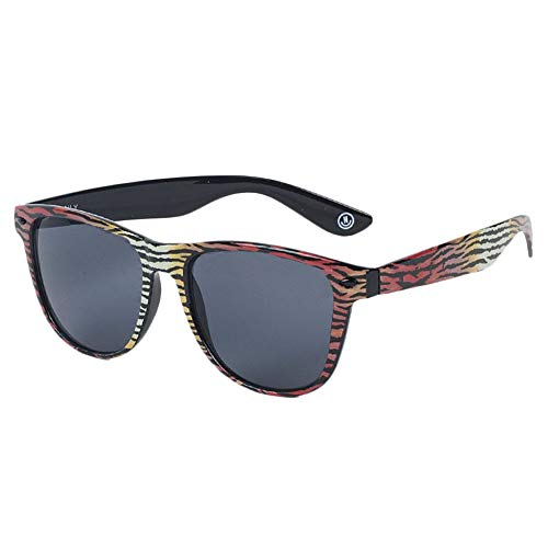 NEFF Men's Daily Shades Unisex Sunglasses with Cloth Pouch, Tiger Stripe, One Size ()