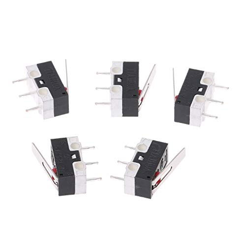 (5Pcs 1A 125V 3PIin Micro Limit Switches Lever Roller Arm Actuator SPDT Switch)