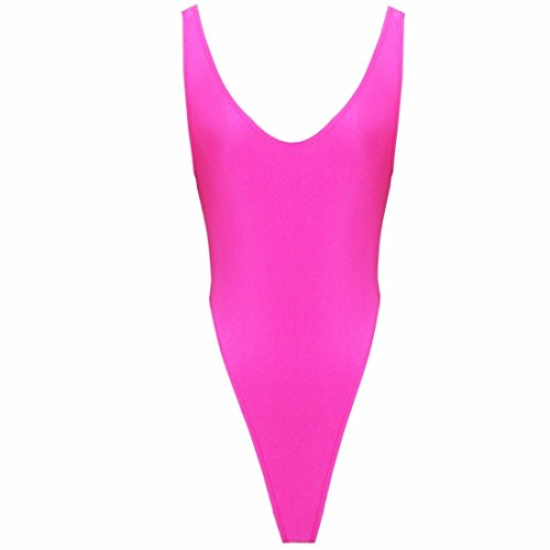 FEESHOW Women's One Piece High Cut Swims - Hot Pink One Piece Shopping Results