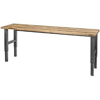 8 Adjustable Height Maple Workbench With Hammered Granite Finish