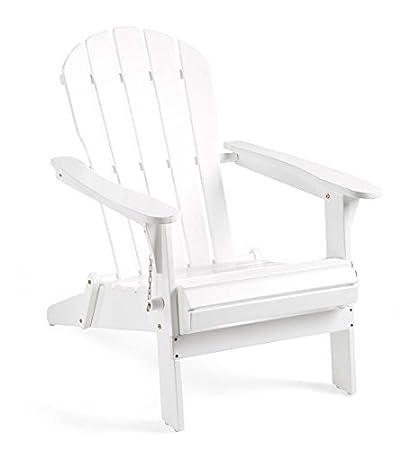 Fine Amazon Com Plow Hearth 62A80 Wh Foldable Eucalyptus Machost Co Dining Chair Design Ideas Machostcouk