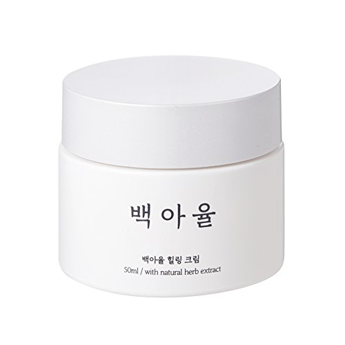 Baegayul Korean Cosmetics Cream Oriental Medicine Skullcap Herbal Natural Skincare Moisturizer for Dry Sensitive Warts Moles Troubles Pimples Wrinkles Purify Soothing Cooling BAEGAYUL Healing Cream 1.6oz ()