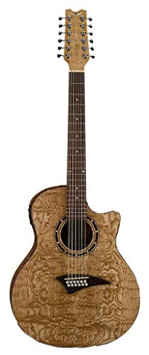- Dean Exotica Quilt Ash Acoustic-Electric 12 String Guitar, Gloss Natural