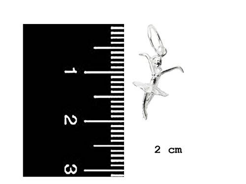Children's-Argent 925 Sterling-Ballerine-Collier Pendentif avec une chaîne en argent Sterling 14 cm-Boîte cadeau