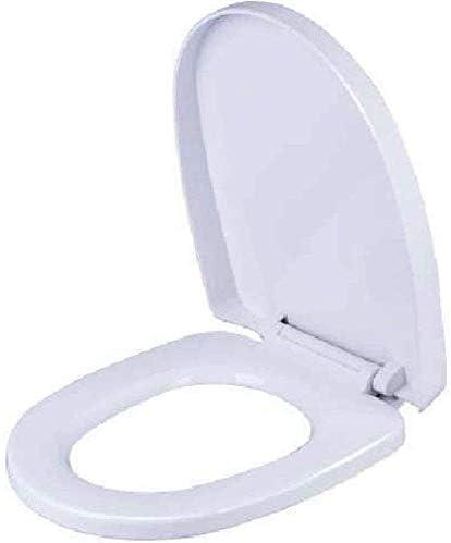 CXMWYトイレのふた 便座Uは、バスルーム、洗面所、バッファパッドクイックリリーストイレカバー付きトイレの蓋をシェイプホワイト、35.8CM * 45〜47センチメートル