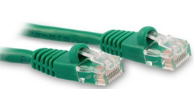 135ft Green Cat5e Patch Cable With Boot 350Mhz Assembled in USA (Assembled Red Patch Cable)