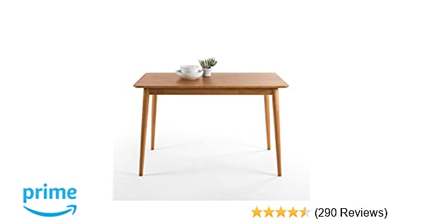 Zinus Jen Mid Century Modern Wood Dining Table Natural