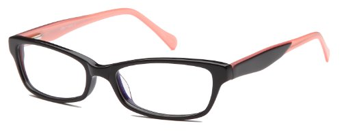 Small Cat Eye Prescription Eyeglasses Rxable 53-17-140-29 in Black and Pink