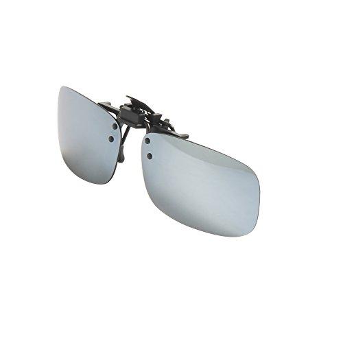 Gafas Mirrored Flip Sunglasses en Up Sol Aire Polarizadas Deporte Rectángulo Driving plata al de LianSan Lens Mujeres LSP103 Libre Clip Men YZCq5USw