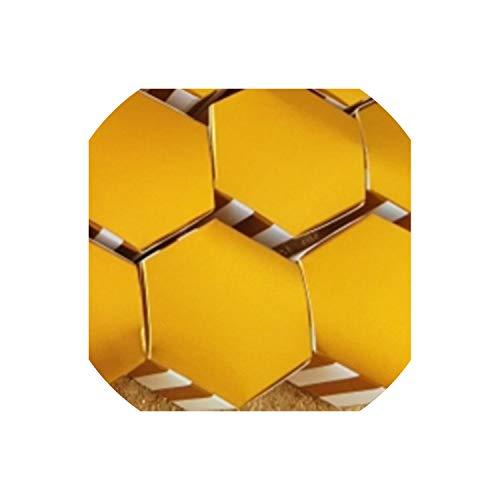 (50Pcs Mini Stripe/Dots Golden Bronzing Color Hexagon Chocolate Cake Box Dragee Candy Box Baking Package Wedding Deco Mariage,Stripe Box)