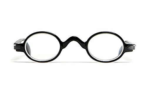 Glasses Professor (Calabria R314 Unisex Vintage Professor Oval Reading Glasses Incredibly Lightweight and Comfortable in Black +3.25)