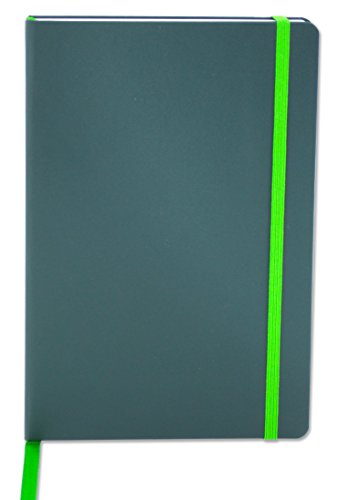 BookFactory Journal/Writing Notebook/Green Blank Diary/Lined Pages Book - 192 Pages, 5.25