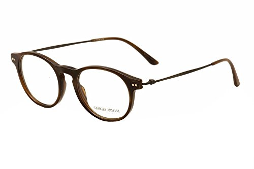 Giorgio Armani Montures de lunettes 7010 Pour Homme Black / Gold, 47mm 5023: Striped brown / Brown