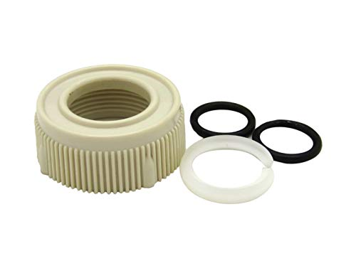 Dura Faucet Spout Nut and Rings Replacement Kit for RV Faucets Only (Bisque ()