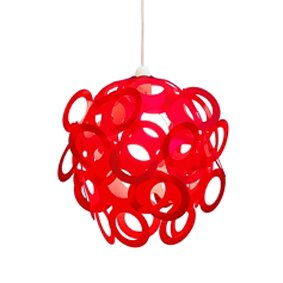 Red Funky Loopy Lampshade: Amazon.co.uk: Lighting:Red Funky Loopy Lampshade,Lighting