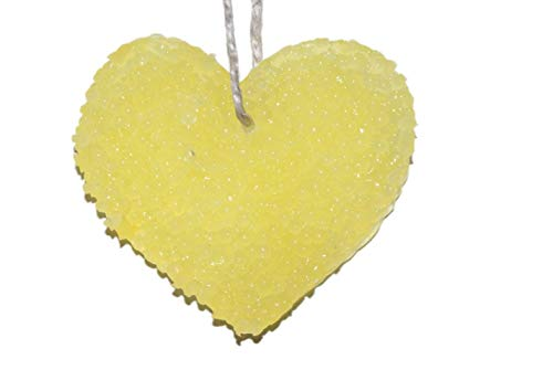 ChicWick Car Candle Lemon Drop Heart Shape Car Freshener - Heart Lemon Drops