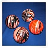 Premium Quality EPCO 4 Ball 107mm Tournament Bocce Set - Marbled Black/Orange/White [Toy]