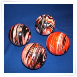 Premium Quality EPCO 4 Ball 107mm Tournament Bocce Set - Marbled Black/Orange/White [Toy] by Epco