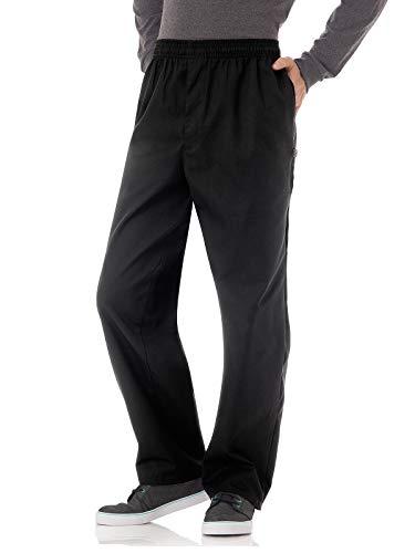 (Five Star Chef Apparel 18101 Men's Zipper Front Chef Pant Black L)