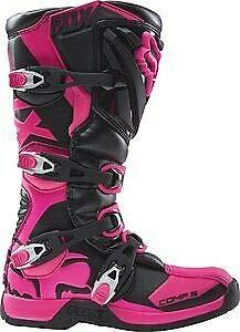 2018 Fox Racing Womens Comp 5 Boots-Black/Pink-9