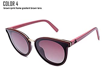 55f87b22db5 Image Unavailable. Image not available for. Color  Kasuki 2018 Cat Eye  Polarized Sunglasses Women UV400 Sunglass Mirror Pink Sun Glasses Bees ...
