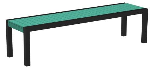 POLYWOOD 3800-12AR MOD Bench, Textured Black/Aruba price