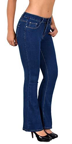 ESRA Jean Femme Bootcut Jeans Pantalon Grandes Tailles Actuelles Designs DD Typ-j172