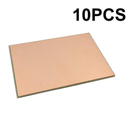 PoiLee 10PCS Single Sided Copper Clad Board PCB FR4 Laminate PCB Circuit Board 100x70mm