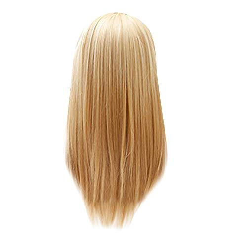 Fashion Long Air Bangs Blonde Long Straight Wig Synthetic Fringe Long Wigs 25 -