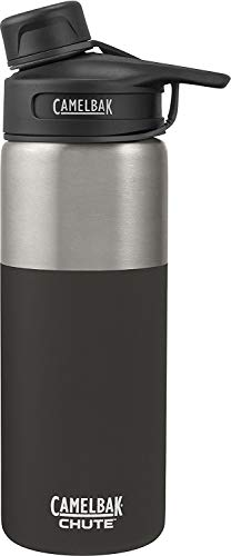 CamelBak (53863) Chute Vacuum Insulated Stainless Water Bottle -  Jet, 20 oz   (Camelbak Chute 40oz Vacuum Insulated Stainless Water Bottle)