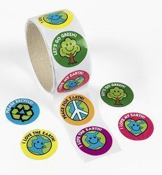 Fun Express Save The Earth ROLL Stickers (1 ROLL) - Bulk