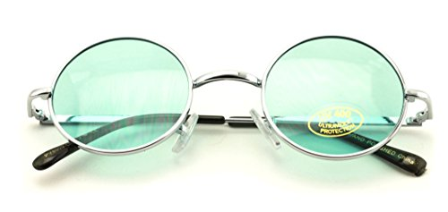 Small Round Hipster Fashion Sunglasses Lennon Elton Potter (Green)