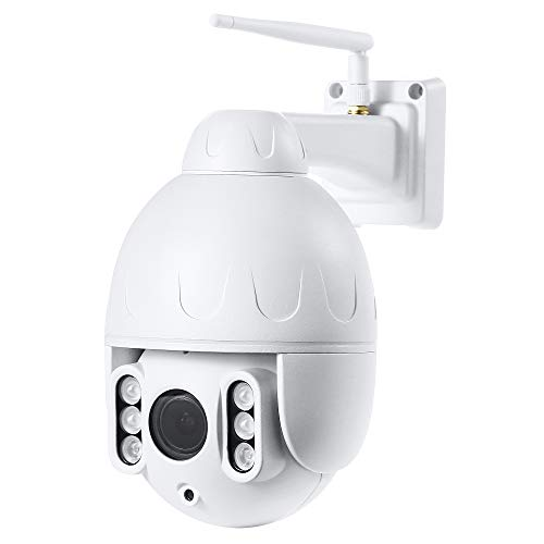 Funxwe 1080P Outdoor PTZ Wireless WiFi IP Camera Waterproof Home Security Surveillance Dome Camera, Night Vision 130ft Built-in Microphone and Speaker