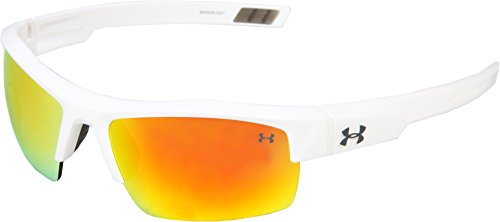 Under Armour Igniter- Shiny White Frame With Orange Multiflection - Mens Underarmour Sunglasses