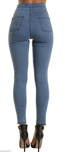 Jeans Jeans Skinny Jeans Bleu Jeans Oudan Zip Skinny Trous Jeans des Jeans avec XaIx1